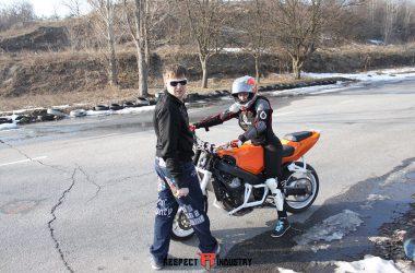 урок вождения мотоцикла
